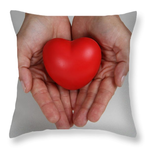 Heart Disease Prevention Throw Pillow by Photo Researchers, Inc.