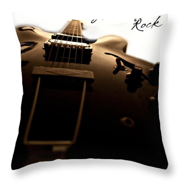 Let There Be Rock Throw Pillow by Christopher Gaston