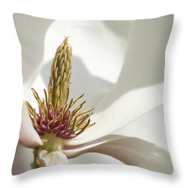 Magnolia Throw Pillow by Sophie De Roumanie