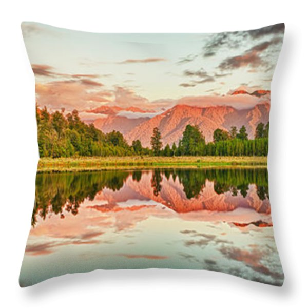 Matheson Lake Throw Pillow by MotHaiBaPhoto Prints