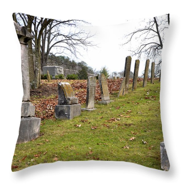 Pleasant Forest Cemetery Throw Pillow by Paul Mashburn