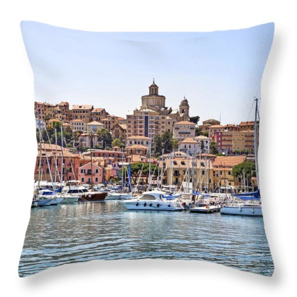 Porto Maurizio - Imperia Throw Pillow by Joana Kruse