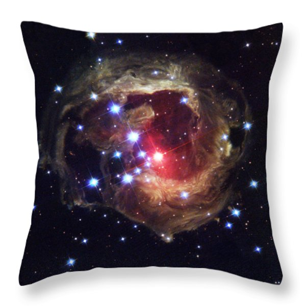 Radiation From A Stellar Burst Throw Pillow by ESA and nASA