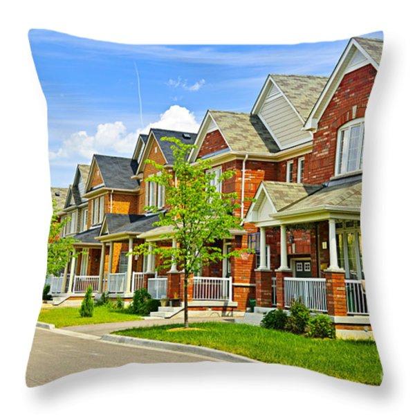 Suburban homes Throw Pillow by Elena Elisseeva