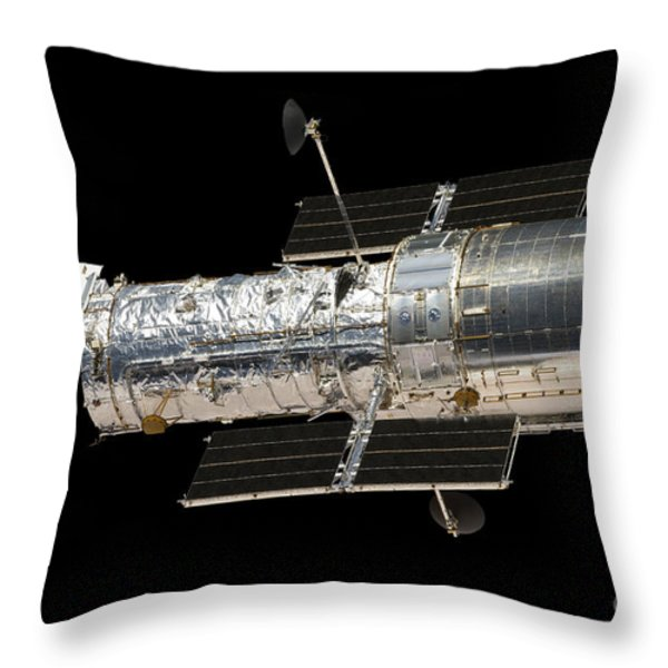 The Hubble Space Telescope Throw Pillow by Stocktrek Images