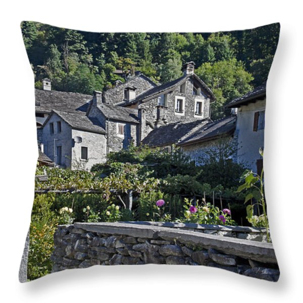 Ticino Throw Pillow by Joana Kruse