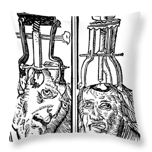 Trepanning 1525 Throw Pillow by Science Source
