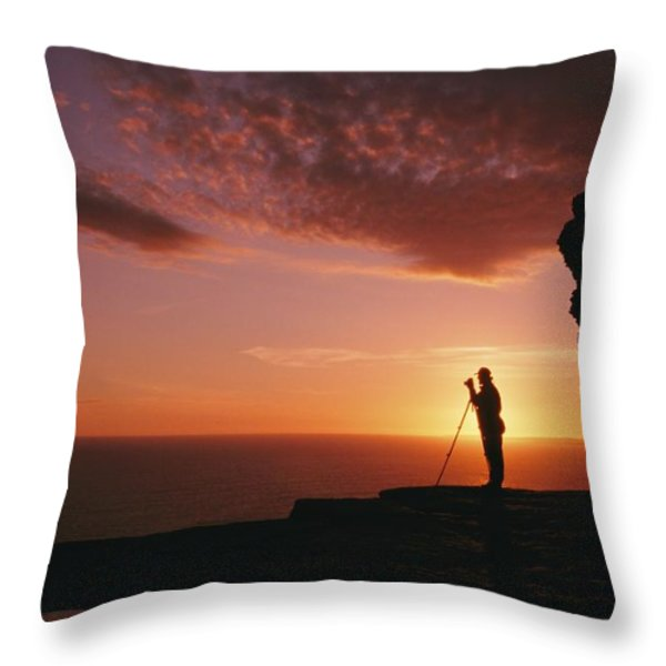 Untitled Throw Pillow by Richard Nowitz
