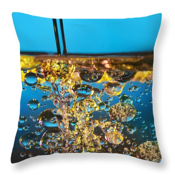 Water And Oil Throw Pillow by Setsiri Silapasuwanchai