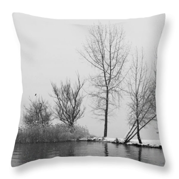 wintertrees Throw Pillow by Joana Kruse