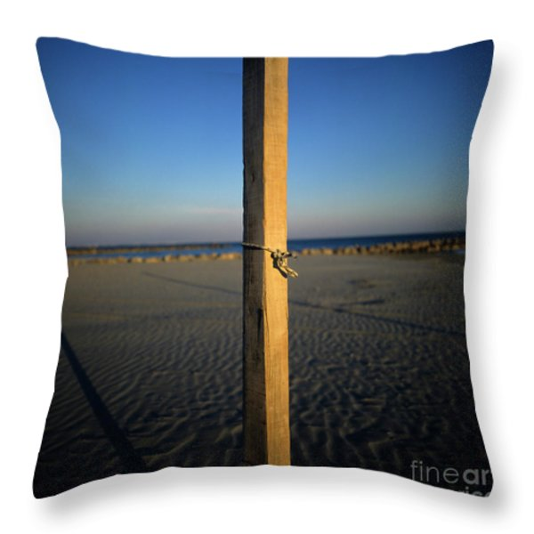 Wooden post Throw Pillow by BERNARD JAUBERT