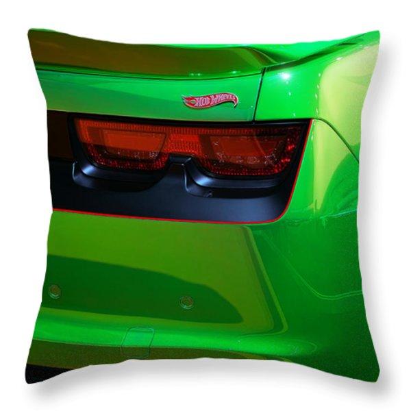2012 Hot Wheels Chevrolet Camaro Concept Throw Pillow by Gordon Dean II