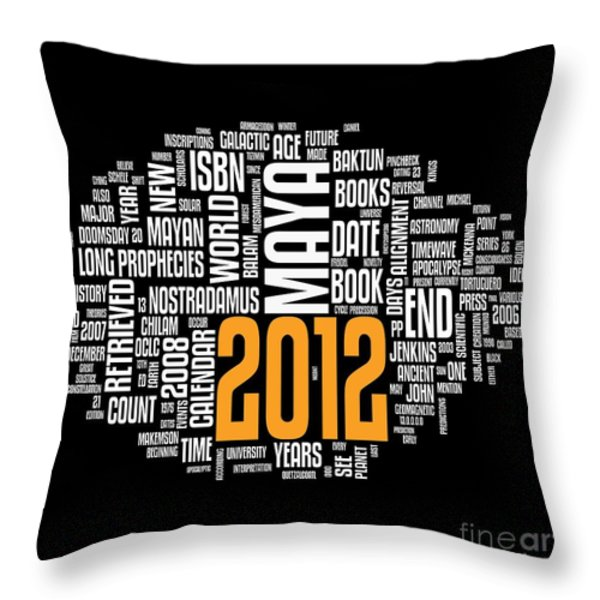 2012 Maya Prophecies Throw Pillow by Stefano Senise