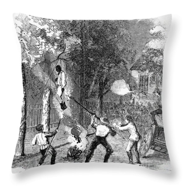 New York: Draft Riots 1863 Throw Pillow by Granger