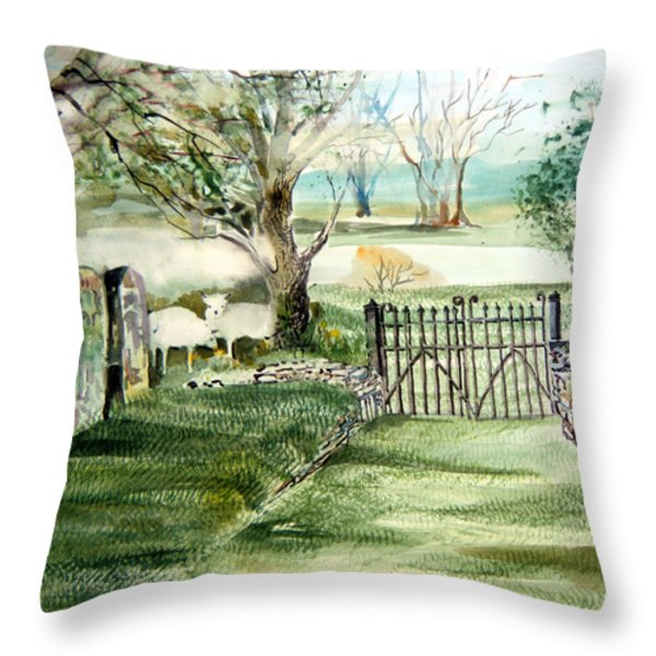 23rd Psalm Throw Pillow by Mindy Newman
