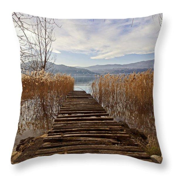 Lake Maggiore Throw Pillow by Joana Kruse