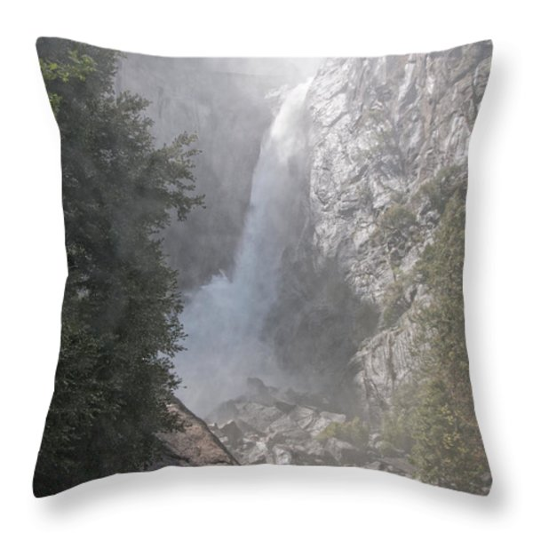 Yosemite Throw Pillow by Carol Ailles