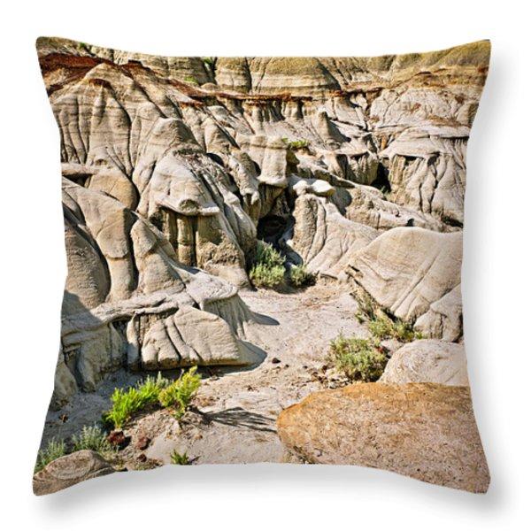 Badlands in Alberta Throw Pillow by Elena Elisseeva