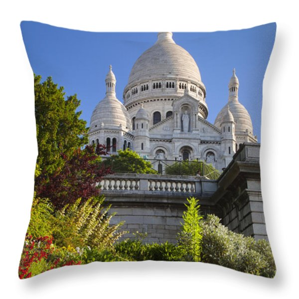 Basilique Du Sacre Coeur Throw Pillow by Brian Jannsen