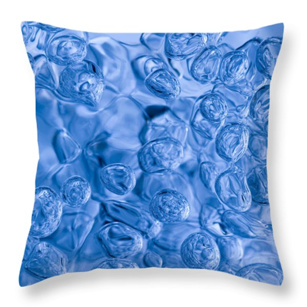 Blue Abstract Throw Pillow by Frank Tschakert