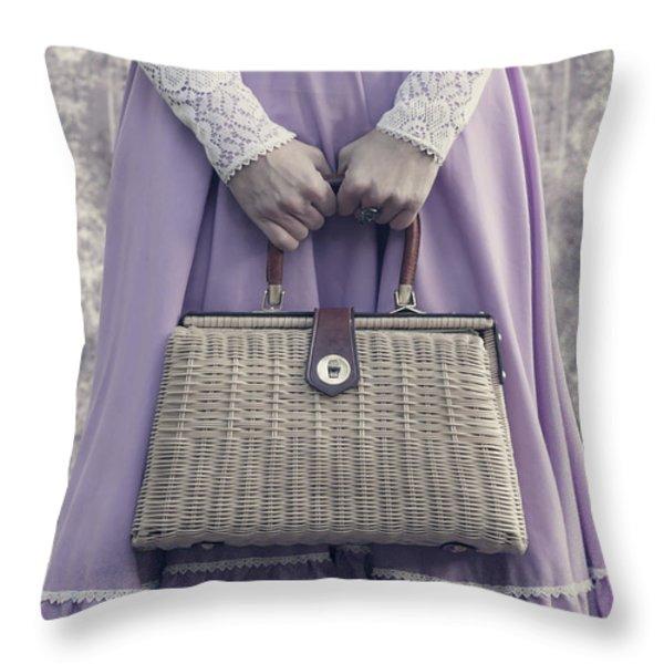 handbag Throw Pillow by Joana Kruse