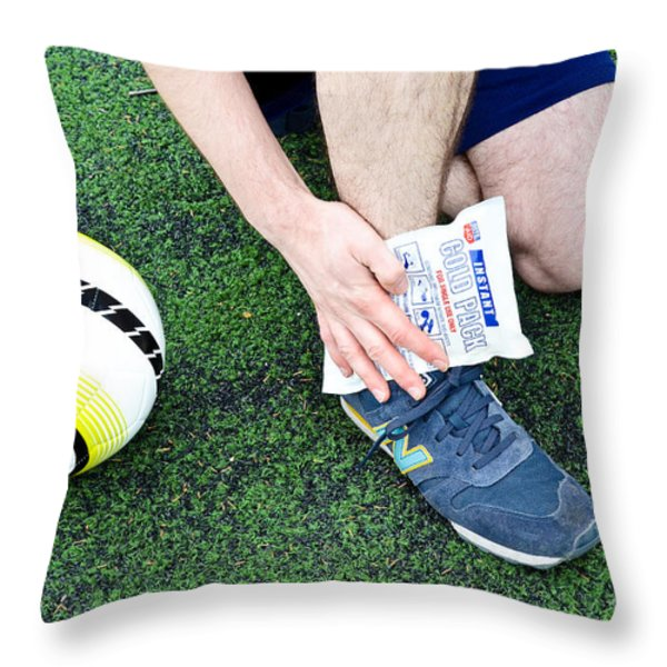 Injured Ankle Throw Pillow by Photo Researchers