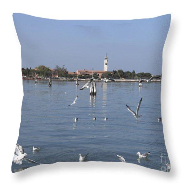 Lagoon. Venice Throw Pillow by Bernard Jaubert
