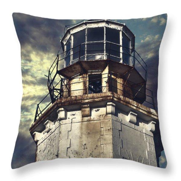 Lighthouse Throw Pillow by Joana Kruse