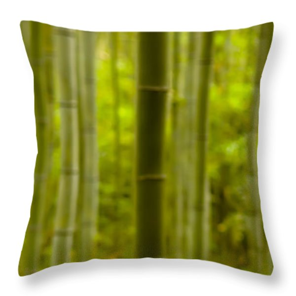 Mystical Bamboo Throw Pillow by Sebastian Musial