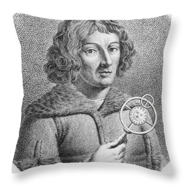 Nicolaus Copernicus, Polish Astronomer Throw Pillow by Omikron