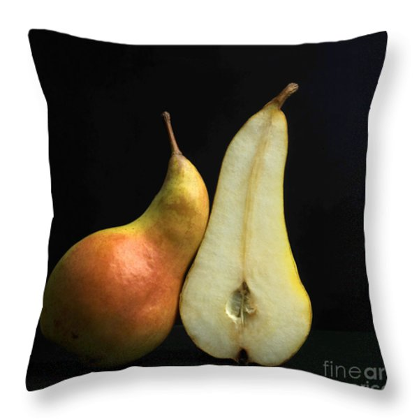 Pears Throw Pillow by BERNARD JAUBERT