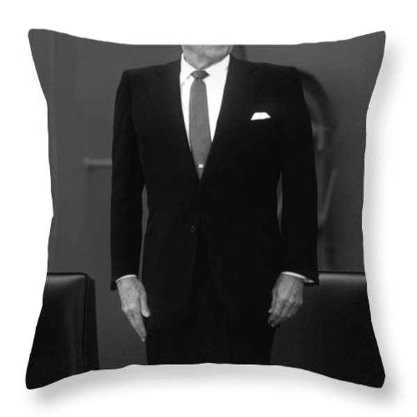President Ronald Reagan Throw Pillow by War Is Hell Store