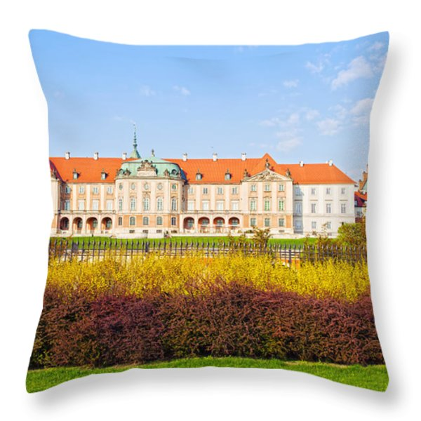 Royal Castle In Warsaw Throw Pillow by Artur Bogacki