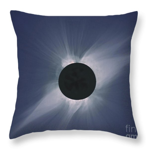 Solar Eclipse Throw Pillow by NASA