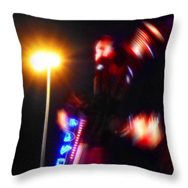 Thriller Throw Pillow by Charles Stuart