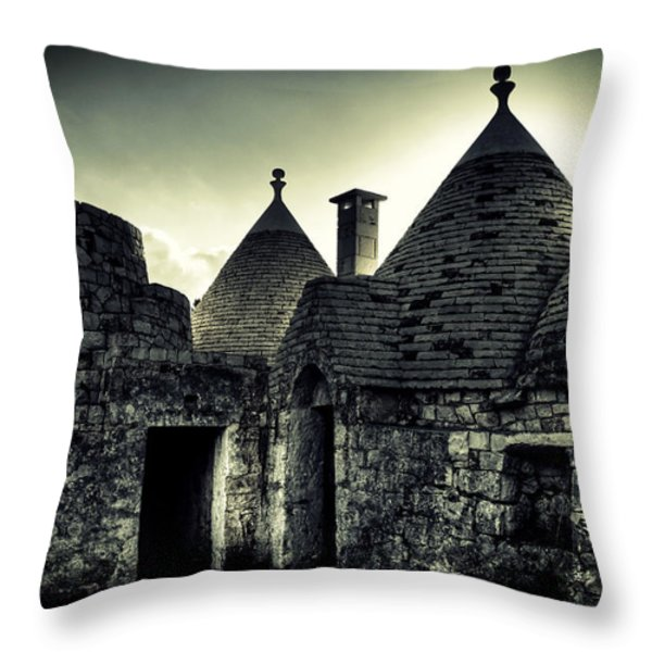 Trulli Throw Pillow by Joana Kruse