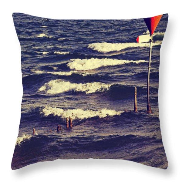 Waves Throw Pillow by Joana Kruse