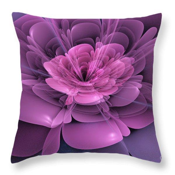 3d Flower Throw Pillow by John Edwards