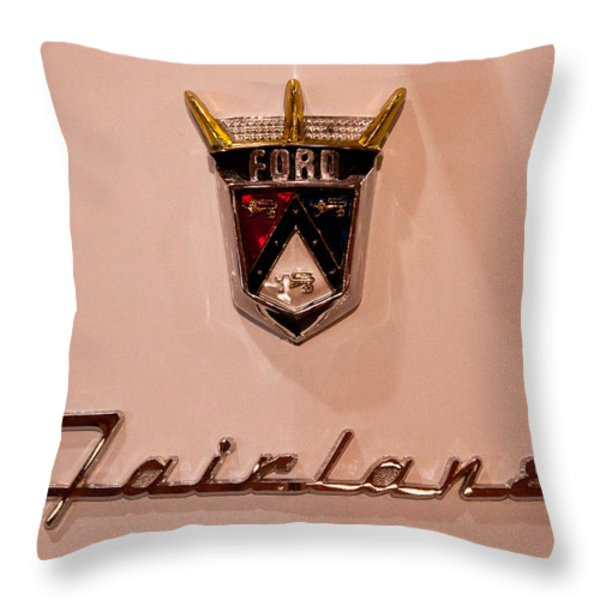 1955 Ford Fairlane Crown Victoria 2-door Hardtop Throw Pillow by David Patterson