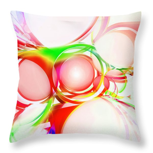 abstract of circle  Throw Pillow by Setsiri Silapasuwanchai