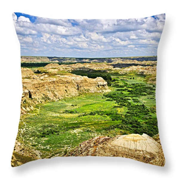 Badlands In Alberta Throw Pillow by Elena Elisseeva