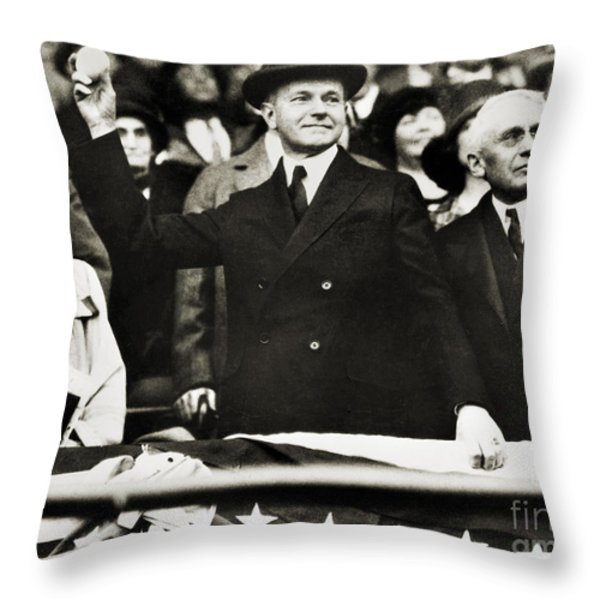 Calvin Coolidge (1872-1933) Throw Pillow by Granger