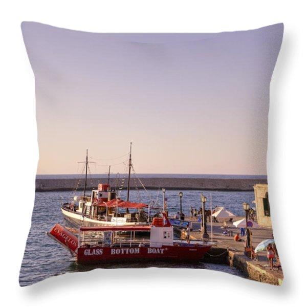 Chania - Crete Throw Pillow by Joana Kruse