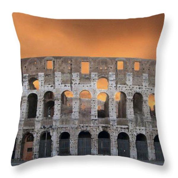 Colosseum. Rome Throw Pillow by BERNARD JAUBERT