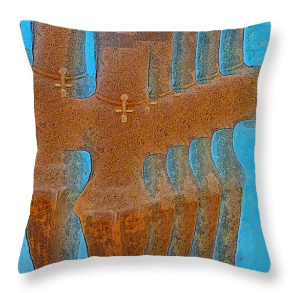Cyprus Idol of Pomos Throw Pillow by Augusta Stylianou