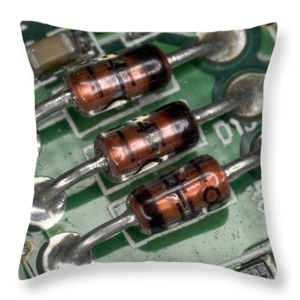 Electronics Board Throw Pillow by Ted Kinsman