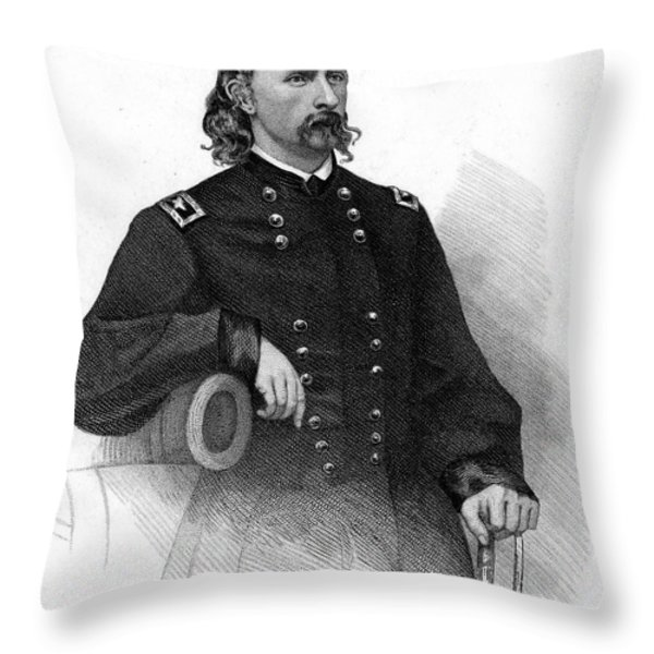 George Custer (1839-1876) Throw Pillow by Granger