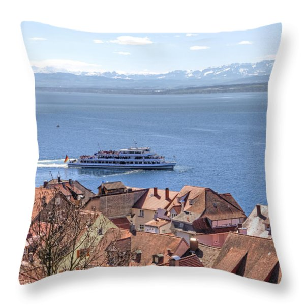 Lake Constance Meersburg Throw Pillow by Joana Kruse