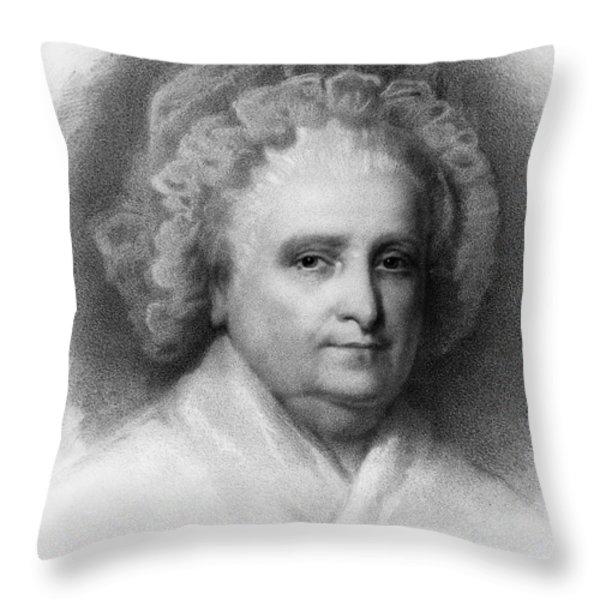 Martha Washington, American Patriot Throw Pillow by Photo Researchers