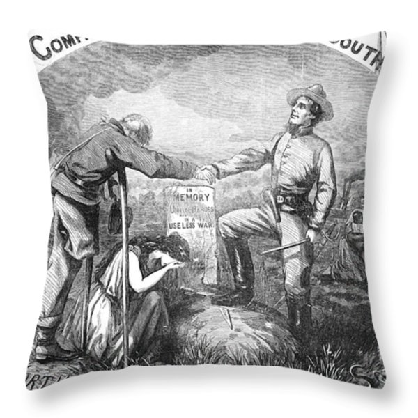 Presidential Campaign, 1864 Throw Pillow by Granger